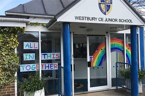 Homepage Westbury CofE Junior School front entrance
