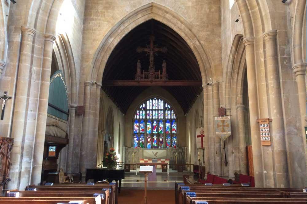 wjs our church school interior image of All Saints' Church Westbury