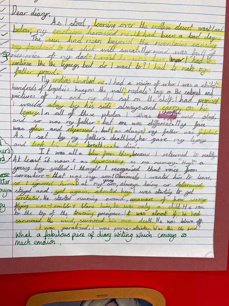 Wow Day work. - Child's piece of writing 2