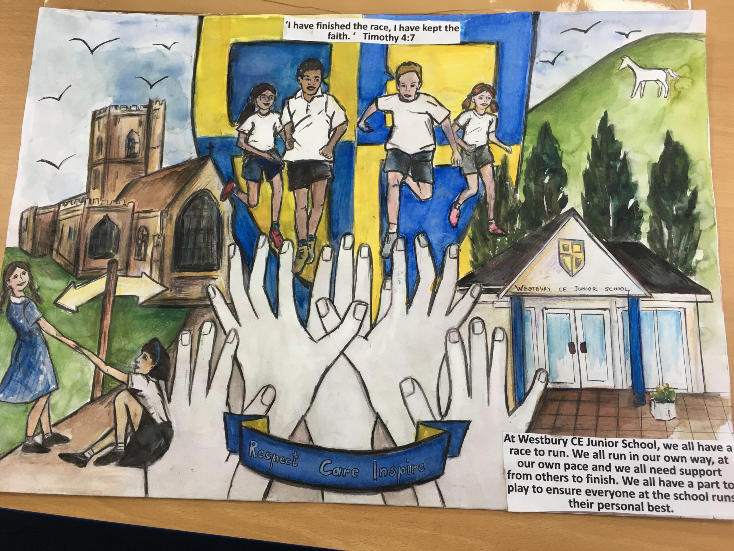 Our church school visual representation of school's bible verse