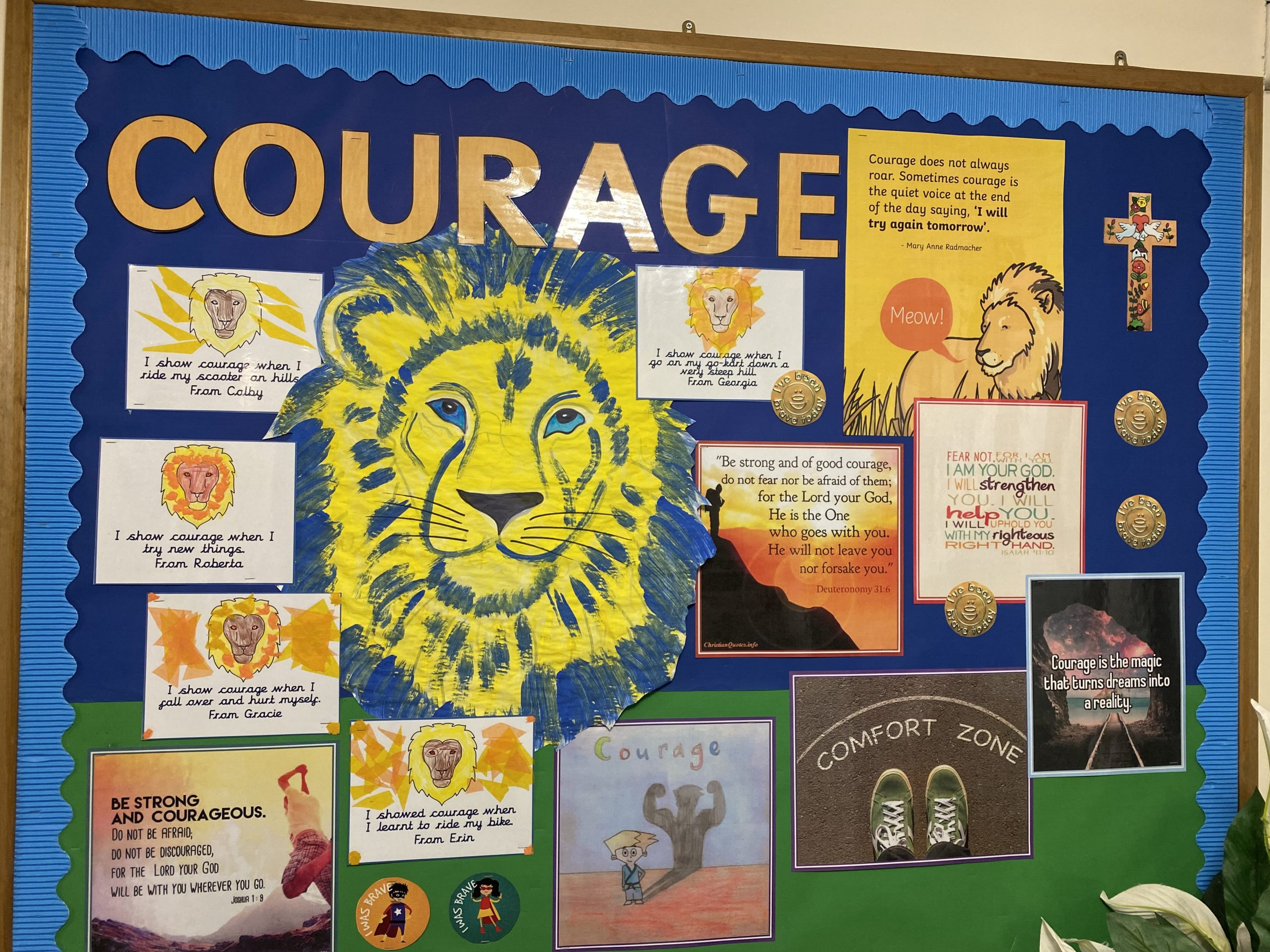 our church school worship board courage