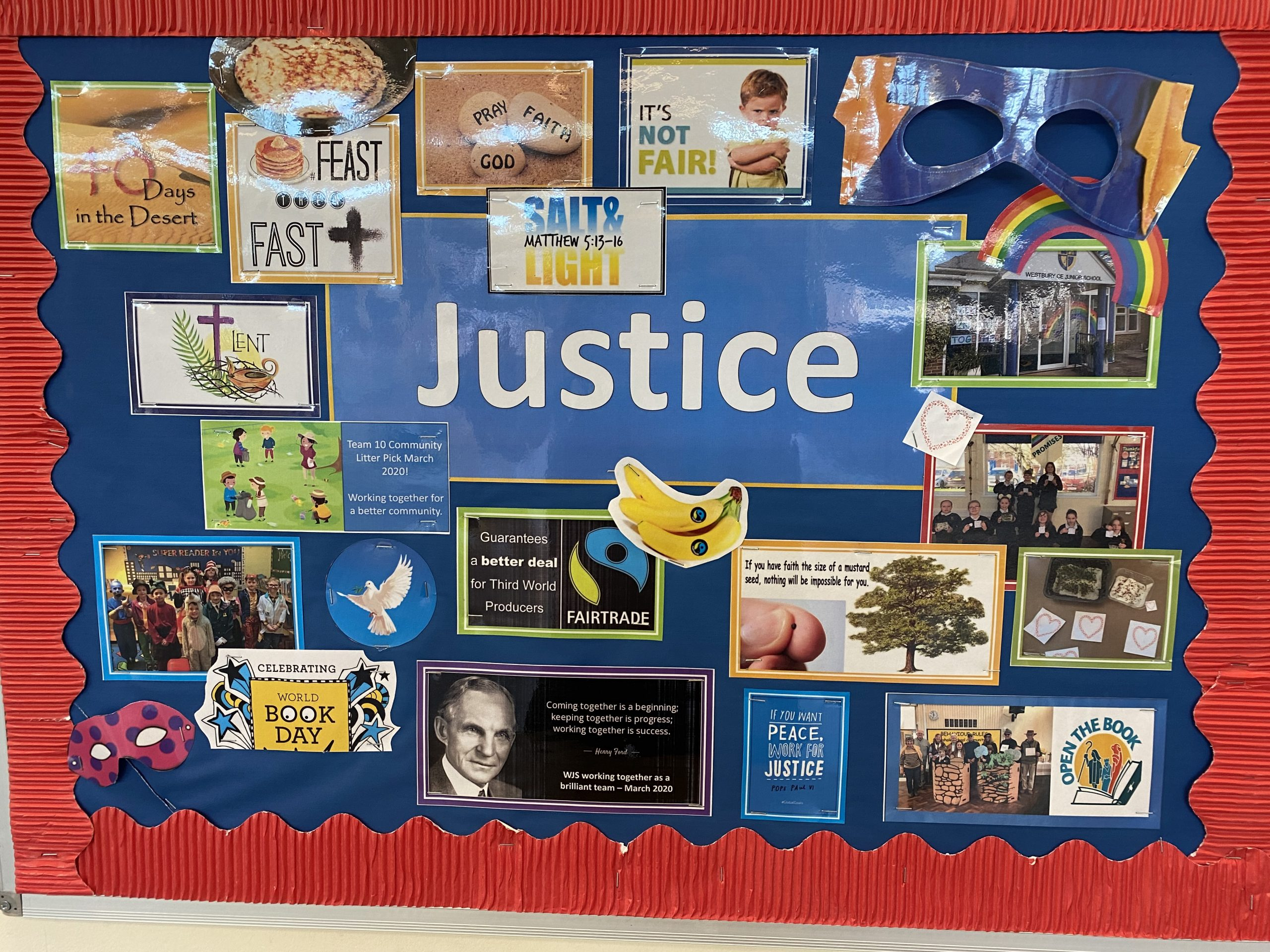 our church school worship board justice